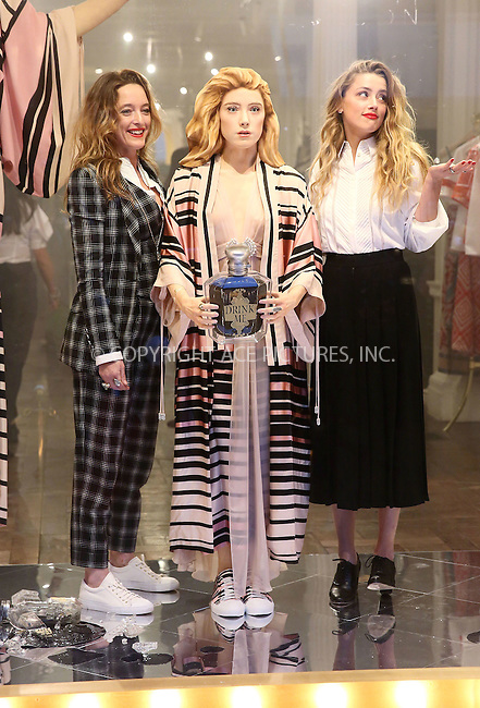 WWW.ACEPIXS.COM<br /> <br /> February 20 2015, London<br /> <br /> Amber Heard (R) and Alice Temperley unveil 'Alice in Wonderland for Temperley' at the Temperley store on February 20 2015 in London <br /> <br /> By Line: Famous/ACE Pictures<br /> <br /> <br /> ACE Pictures, Inc.<br /> tel: 646 769 0430<br /> Email: info@acepixs.com<br /> www.acepixs.com