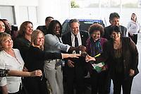 CAMPINAS, SP, 08.08.2019: POLÍTICA-SP - A ministra do Ministério da Mulher, da Familia e dos Direitos Humanos, Damares Alves, participa de entrega de veículos para o Conselho Tutelar de Campinas, Lindóia e Guarulhos em uma concessionária Citroen em Campinas, interior de São Paulo, nesta quinta-feira (08). (Foto: Luciano Claudino/Código19)