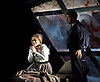 La Boheme <br /> by Puccini <br /> English Touring Opera at the Hackney Empire, London, Great Britain <br /> rehearsal <br /> 11th March 2015 <br /> <br /> David Butt Philip as Rodolfo <br /> <br /> Ilona Domnich as Mimi <br /> <br /> <br /> <br /> <br /> <br /> Photograph by Elliott Franks <br /> Image licensed to Elliott Franks Photography Services