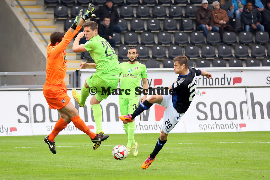 Verpasste Chance fuer Zlatko Dedic (FSV) - FSV Frankfurt vs. FC Erzgebirge Aue, Frankfurter Volksbank Stadion