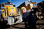 Thomas Minggia, a journeyman electrician, works in a Union Pacific rail yard in Roseville, Calif., November 8, 2011. Minggia has worked at Union Pacific for eight years..CREDIT: Max Whittaker/Prime for The Wall Street Journal.HIRE