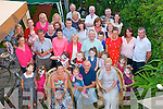 Ger Collins, Kevin Barry Villa's, Tralee (seated centre) had a super garden party for his 50th birthday last Friday night along