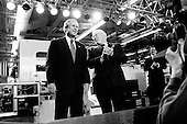 Canton, Ohio.USA.April 24, 2003..US President George W. Bush speaks to the Timken Company, a manufacturer of bearings.