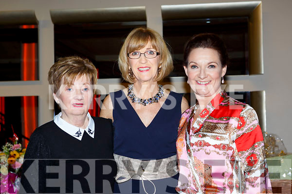 Kathleen O'Shea, Caitriona Breen and Ellen O'Doherty at the Killarney Strictly Come Dancing in the INEC on Friday night