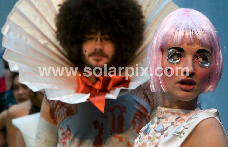 **ALL ROUND PICTURES FROM SOLARPIX.COM**.**NO UK NEWSPAPER PUBLICATION **UK MAGAZINE PUBLICATION ONLY** AND NO PUBLICATION IN FRANCE, SCANDINAVIA, AUSTRALIA AND GERMANY** .New fashion designers will showcase their work this week at the Swatch Alternative Fashion week in east London, an event covering the alternative and upcoming side of the industry. The event will see 60 young hopefuls displaying their work at a series of shows in Spitalfields market beginning 19 March 2007...JOB REF:   3534      SFE       DATE: 19.03.07.**MUST CREDIT SOLARPIX.COM OR DOUBLE FEE WILL BE CHARGED* *UNDER NO CIRCUMSTANCES IS THIS IMAGE TO BE REPRODUCED FOR ANY ONLINE EDITION WITHOUT PRIOR PERMISSION*