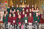 Pupils from Milltown National School at their Confirmation in Sacred Heart Church, Milltown, last Wednesday, pictured with Bishop Bill Murphy..