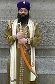 Vaisakhi Mela - Sikh New Year Celebrations in London. Performer with costume