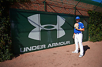Chandler Champlain (44) of Santa Margarita Catholic High School in Coto de Caza, California poses for a photo before the Under Armour All-American Game presented by Baseball Factory on July 29, 2017 at Wrigley Field in Chicago, Illinois.  (Mike Janes/Four Seam Images)