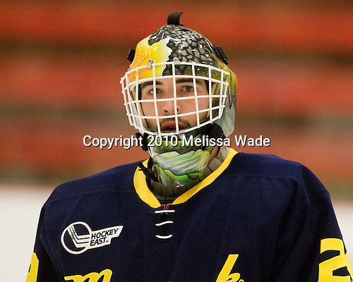 Nick Drew (Merrimack - 29) - The visiting Merrimack College Warriors defeated the Harvard University Crimson 3-1 (EN) at Bright Hockey Center on Tuesday, November 30, 2010.