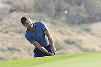 Robert Rock (ENG) during the first round of the NBO Open played at Al Mouj Golf, Muscat, Sultanate of Oman. <br /> 15/02/2018.<br /> Picture: Golffile | Phil Inglis<br /> <br /> <br /> All photo usage must carry mandatory copyright credit (&copy; Golffile | Phil Inglis)