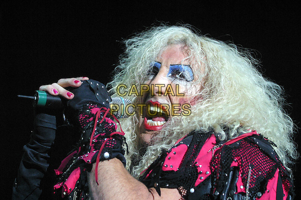 TWISTED SISTER.Twisted Sister Live at Nottingham Arena..UK, United Kingdom..16th November2005..Ref: JEZ.portrait headshot performing on stage singing live music gig concert heavy make-up outfit holding pink microphone.www.capitalpictures.com.sales@capitalpictures.com.©Capital Pictures