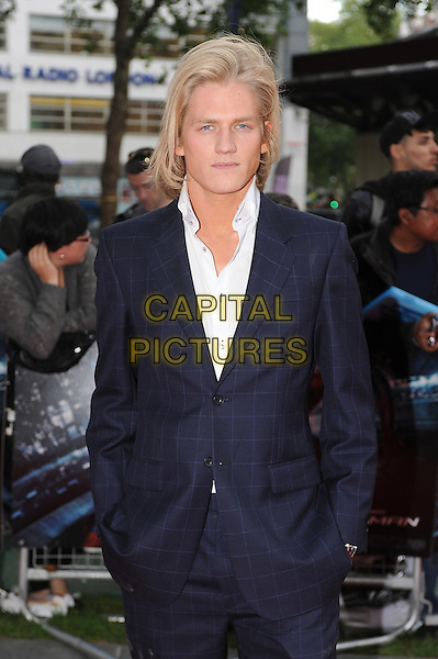 Richard Dinan.'The Amazing Spider-Man' UK film premiere, Odeon Leicester Square cinema, London, England..June 18th, 2012.half length blue suit white shirt.CAP/BEL.©Tom Belcher/Capital Pictures.