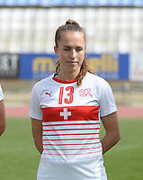 20180305 - LARNACA , CYPRUS : Swiss Lia Walti pictured during a women's soccer game between Switzerland and Wales , on monday 5 March 2018 at GSZ Stadium in Larnaca , Cyprus . This is the third game in group A for Switzerland and Wales during the Cyprus Womens Cup , a prestigious women soccer tournament as a preparation on the World Cup 2019 qualification duels. PHOTO SPORTPIX.BE | DAVID CATRY