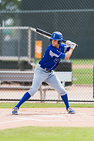 Team Italy outfielder Sebastiano Poma (26) at bat during an exhibition game against the Oakland Athletics at Lew Wolff Training Complex on October 3, 2018 in Mesa, Arizona. (Zachary Lucy/Four Seam Images)