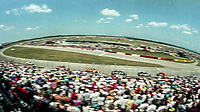 Large crowd watches the action, Winston 500, Talladega Superspeedway, Talladega, Alabama, May 1992.(Photo by Brian Cleary/bcpix.com)