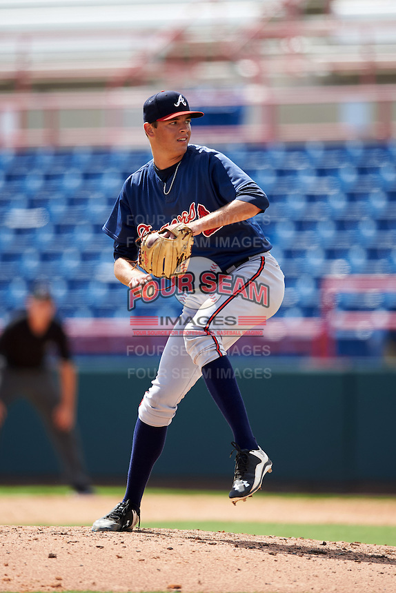 Atlanta Braves pitcher Jeremy Walker (61) during an Instructional League game against the Washington Nationals on September 30, 2016 at Space Coast Stadium in Melbourne, Florida.  (Mike Janes/Four Seam Images)
