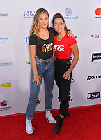 SANTA MONICA, CA. September 07, 2018: Maddie Ziegler & Mackenzie Ziegler at the 2018 Stand Up To Cancer fundraiser at Barker Hangar, Santa Monica Airport.