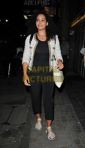 """Madeleine Mantock at the """"Waitress"""" cast change media night, Adelphi Theatre, The Strand, London, England, UK, on Tuesday 02nd July 2019.<br /> CAP/CAN<br /> ©CAN/Capital Pictures"""