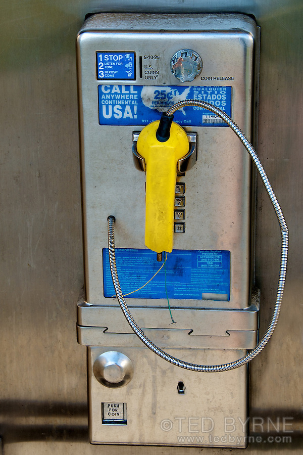 Broken public telephone
