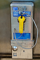Broken public telephone