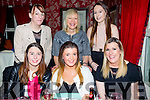 Saoirse Mangan, Killorglin, celebrating her 21st Birthday with family and friends at Cassidys on Saturday. Pictured l-r  Fiona Mcsweeney, Saoirse Mangan, Mary Fitzpatrick Back l-r Pauline Houlihan, Peggy Griffin and Nichole Griffin