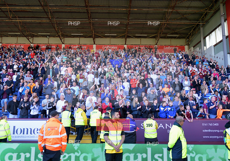 13/05/2018 Premier League Burnley v AFC Bournemouth<br /> <br /> Fans celebrate
