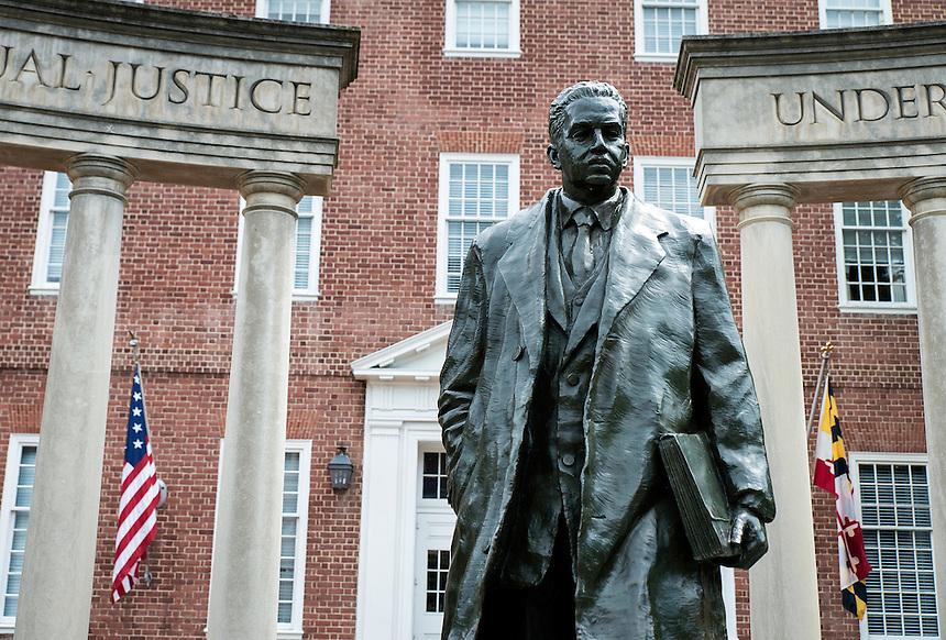 Supreme court justice Thurgood Marshall  sculpture Annapolis, Maryland, USA