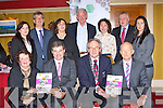 Launching Killarney 2014 Winning Business Together plan in the Killarney Avenue Hotel on Tuesday evening were front row l-r: Yvonne Quill Killarney Tidy Towns, Richard Guiney Guest Speaker, Michael Gleeson acting Killarney Mayor, Johnny McGuire Killarney Chamber of Commerce President. Back row: Michelle Murphy Kerry Convention Bureau, Patrick O'Donoghue INEC, Kate O'Leary Tha Laurels, Michael Buckley Kerry Coaches, Ciara Tracey Ross Hotel, Pat Dawson National Parks and Wildlife, Catriona O'Callaghan Kerry Adventure