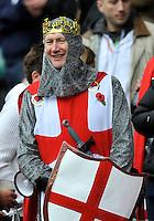 Twickenham, England. England supporter during the QBE Internationals England v Fiji at Twickenham Stadium on 10 November. Twickenham, England, 2012