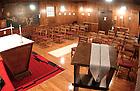 Log Chapel Interior..Photo by Matt Cashore