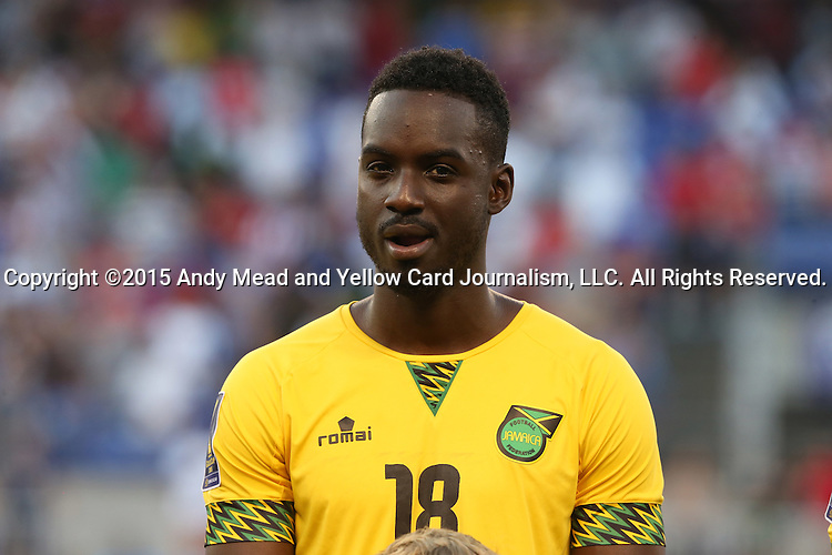 18 July 2015: Simon Dawkins (JAM). The Jamaica Men's National Team played the Haiti Men's National Team at M&T Bank Stadium in Baltimore, Maryland in a 2015 CONCACAF Gold Cup quarterfinal match. Jamaica won the game 1-0.