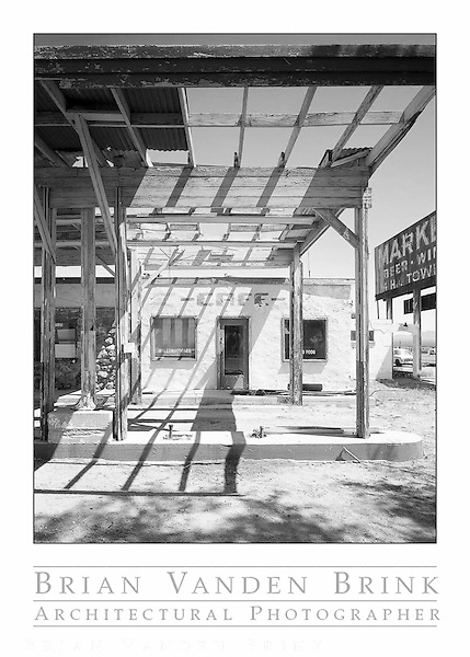 ABANDONED CAFE/GAS STATION, Route 66, Essex, California © Brian Vanden Brink, 2010