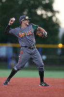 Kevin Padlo (7) of the Boise Hawks makes a throw from third base during a game against the Hillsboro Hops at Ron Tonkin Field on August 21, 2015 in Hillsboro, Oregon. Boise defeated Hillsboro, 7-1. (Larry Goren/Four Seam Images)