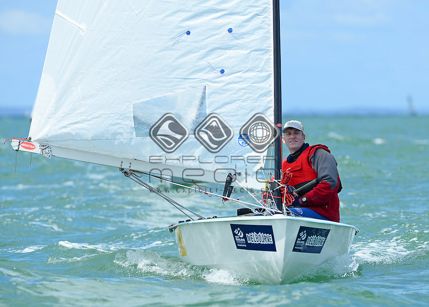 OK Dinghy / Mike Williams (AUS)<br /> 2013 ISAF Sailing World Cup - Melbourne<br /> Sail Melbourne - The Asia Pacific Regatta<br /> Sandringham Yacht Club, Victoria<br /> December 1st - 8th 2013<br /> © Sport the library / Jeff Crow