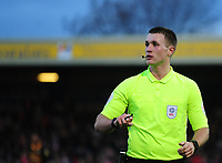 Referee Thomas Bramall<br /> <br /> Photographer Andrew Vaughan/CameraSport<br /> <br /> The EFL Sky Bet League Two - Lincoln City v Newport County - Saturday 22nd December 201 - Sincil Bank - Lincoln<br /> <br /> World Copyright © 2018 CameraSport. All rights reserved. 43 Linden Ave. Countesthorpe. Leicester. England. LE8 5PG - Tel: +44 (0) 116 277 4147 - admin@camerasport.com - www.camerasport.com