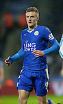 Jamie Vardy of Leicester City during the Barclays Premier League match at The King Power Stadium.  Photo credit should read: Malcolm Couzens/Sportimage