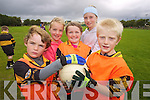 COOL CAMPERS: Conor Horan, Lucy O'Carroll, Emma Reidy, Katie Nagle and Joey Nagle pictured at the GAA Cu?l Camp at Austin Stacks club in Tralee on Friday.