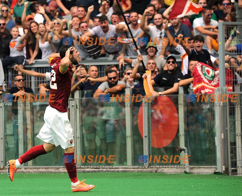 Esultanza Mattia Destro dopo il gol Roma 1-0 Goal celebration <br /> Roma 21-09-2014 Stadio Olimpico, Football Calcio Serie A AS Roma - Cagliari. Foto Andrea Staccioli / Insidefoto