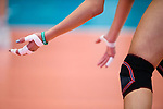 05.10.2019, Halle Berg Fidel, Muenster<br />Volleyball, Bundesliga Frauen, Normalrunde, USC MŸnster / Muenster vs. Allianz MTV Stuttgart<br /><br />Feature Volleyball, Hand, Tape, Knieschoner, Armband One Team<br /><br />  Foto © nordphoto / Kurth