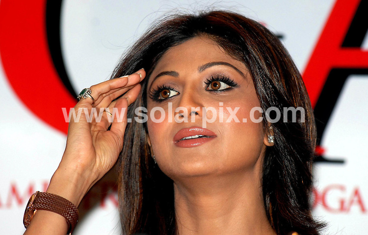 "**ALL ROUND PICTURES FROM SOLARPIX.COM**.**WORLDWIDE SYNDICATION RIGHTS**.Big Brother winner and Indian film actress Shilpa Shetty  during the of release her DVD ""Shilpa'a Yoga - The Secret of her fitness of a sound Mind & Sexy Body"", during a press conference in New Delhi, India on Friday, 6th June, 2008..JOB REF: 6616 SJA        DATE: 06_06_2008.**MUST CREDIT SOLARPIX.COM OR DOUBLE FEE WILL BE CHARGED* *UNDER NO CIRCUMSTANCES IS THIS IMAGE TO BE REPRODUCED FOR ANY ONLINE EDITION WITHOUT PRIOR PERMISSION*"