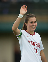 STANFORD, CA - November 23, 2018: Jordan DiBiasi at Laird Q. Cagan Stadium. The top seeded Stanford Cardinal defeated the Tennessee Volunteers 2-0 in the Quarterfinal of the NCAA tournament.