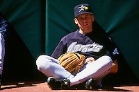 SAN FRANCISCO, CA - Craig Biggio of the Houston Astros watches batting practice before a game against the San Francisco Giants at Candlestick Park in San Francisco, California in 1994. Photo by Brad Mangin