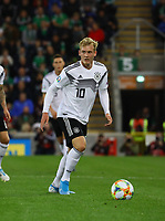 Julian Brandt (Deutschland Germany) - 09.09.2019: Nordirland vs. Deutschland, Windsor Park Belfast, EM-Qualifikation DISCLAIMER: DFB regulations prohibit any use of photographs as image sequences and/or quasi-video.