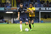 John White of Southend United holds off Shawn McClousky of Newport County during Southend United vs Newport County, Caraboa Cup Football at Roots Hall on 8th August 2017