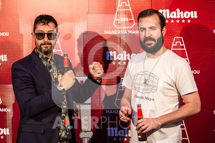 Toni Garrido and Antonio Castelo during the inauguration of Manzana Mahou 330 space. 22,06,2016. (ALTERPHOTOS/Rodrigo Jimenez)