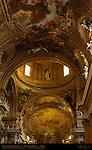 Vault detail Trompe-l'oeil Frescoes Giovanni Battista Gaulli Antonio Raggi Chiesa del Gesu Rome