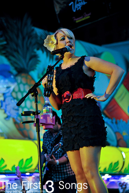 Meghan Linsey of Steel Magnolia performs during the ACM Concerts at Fremont Street Experience Event in Las Vegas, Nevada on April 2, 2011.