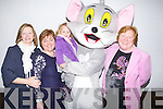 ..TOM THE CAT: Tom meet old and new friends at his show in the Grand Hotel on Sunday L-r: Delores Vivier, Sharon Brennan, Muireann Vivier, Tom (The Cat), and Mary Clifford.(Tralee)...