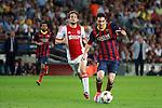 UEFA Champions League 2013/2014.<br /> FC Barcelona vs AFC Ajax: 4-0 - Game: 1.<br /> Messi vs Blind.