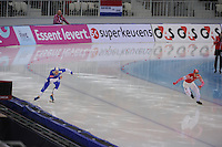 SPEEDSKATING: SOCHI: Adler Arena, 24-03-2013, Essent ISU World Championship Single Distances, Day 4, 500m Men, Pekka Koskela (FIN), Dmitry Lobkov (RUS), © Martin de Jong